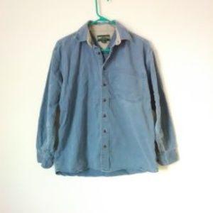 AEO Men's Blue Chambrey Shirt
